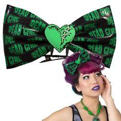 XL Hairbow Slide Dead Girl Heart