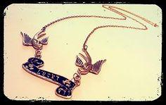 Swallows Lucky Tattoo Necklace -Kitsch Jewellery Vintage Bird Rockabilly Jewelry   eBay
