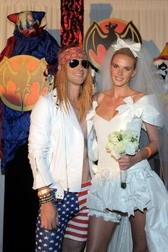 Adam Levine channels Axl Rose at Barcardi Maroon 5 Halloween Bash