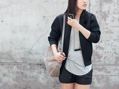 Breathe Mesh Bomber Jacket -Black $119.99 http://www.helloparry.com/collections/outwear/products/breathe-mesh-bomber-jacket-black
