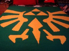 Legend of Zelda Triforce Blanket Crochet