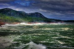 Stormy Seas in Acadia National Park The waves can become very dangerous along the shores of Acadia National Park when a storm front is near.