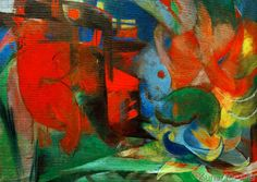 Franz Marc - Abstract Forms II