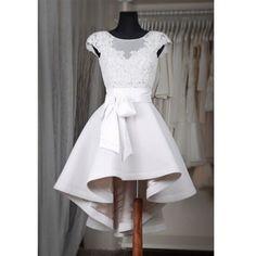 Homecoming Dresses,White Homecoming Dresses,Cap Sleeve Homecoming Dresses,Cute Homecoming Dresses,Short Wedding…