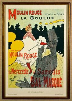 Moulin Rouge-La Goulue by Henri de Toulouse-Lautrec (1891)