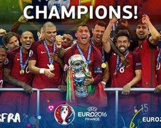 #EURO2016 ha vinto il Portogallo di #Ronaldo Complimenti ai campioni! #CR7 #VittoriaPortogallo #Calcio