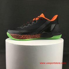 67bd51e406 UA Under Armour Curry 3 Low Black Orange Green Bottom Basketball Shoes For  Men Shop Online