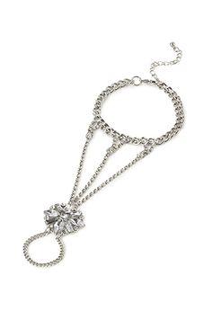 Rhinestoned Pendant Hand Chain   Forever21 - 1000100067