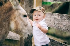 Country baby photography. So doing this with Coleman and our donkey when he is big enough.
