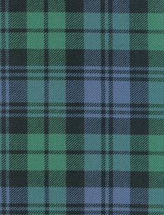 Gorgeous green and blue tartan!