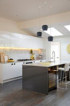 Carly Leighton Contemporary Art Deco Kitchen Freedom Kitchens Caesarstone Raw Concrete (2)