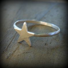 Sterling Silver Star Ring by KatysCustomJewelry on Etsy, $12.00