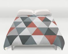 Image result for red geometric duvet
