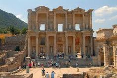 Ephesus- Turkey.  Mary lived out her years in this ancient city.  It was the richest city in the world in ancient times.