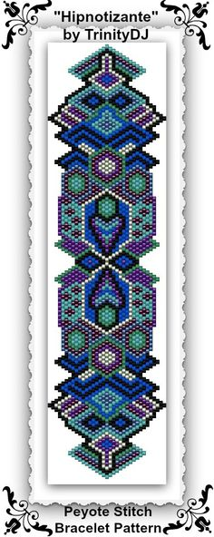 BPGEO040 Hipnotizante Peyote stitch bracelet door TrinityDJ