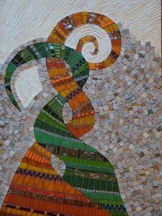 intertwined swirl mosaic - in progress