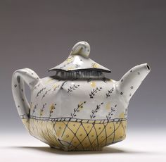 wall paper teapot by JosieJurczenia, via Flickr
