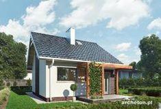 Projekt domu Ziarko - malutki domek, z możliwością adaptacji poddasza w II etapie budowy beton komórkowy - Archeton.pl Gazebo, House Plans, Home And Garden, Exterior, Outdoor Structures, Outdoor Decor, Garden Houses, Home Decor, Ideas