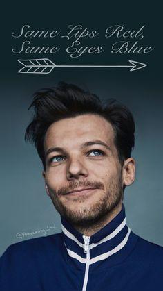Louis Tomlinson 2017 photoshoot fondo de pantalla wallpaper azul same lips red same eyes blue larry stylinson harry styles.