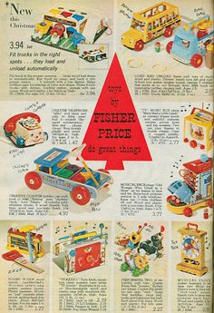 """Fisher Price Vintage Toys 1965 