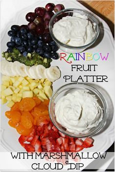 Rainbow Fruit Platte