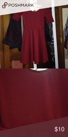 Burgundy skater dress Super cute maroon skater dress. Brand is ultra Flirt but I think it originally came from Macy's? Adorable and very Taylor Swift-esque. Ultra Flirt Dresses