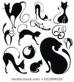 Find Black Cat stock images in HD and millions of other royalty-free stock photos, illustrations and vectors in the Shutterstock collection. Thousands of new, high-quality pictures added every day. Black Cat Silhouette, Silhouette Vector, Silhouette Images, Cat Template, Templates, Cat Quilt, Cat Logo, Cat Pattern, Cat Drawing