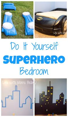 Adorable Super hero themed room filled with Do-it-yourself details!