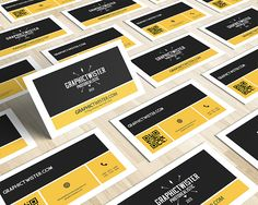 www.graphictwister.com  Free yellow&black Business Card