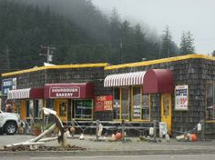winchester bay pics | Winchester Bay, OR: Building front of Sourdough Bakery.