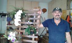 MARCENARIA CRIATIVA - Floreira de Parede com madeira reciclada -Em parce...