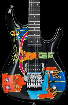 Joe Satriani Signature Model - View All Guitar Painting, Guitar Art, Cool Guitar, Guitar Room, Unique Guitars, Custom Guitars, Heavy Metal Guitar, Joe Satriani, Guitar Accessories