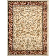 Shop for Safavieh Farahan Cream/Red Oriental Rug (8' x 11'). Get free shipping at Overstock.com - Your Online Home Decor Outlet Store! Get 5% in rewards with Club O!