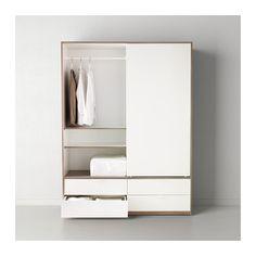 Ikea schrank weiß schiebetüren  HEMNES Bücherregal, weiß gebeizt | Möbel, Grau und Kleiderschränke