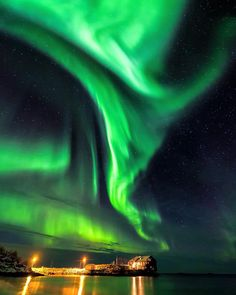 Powerful Aurora, Senja, Norway