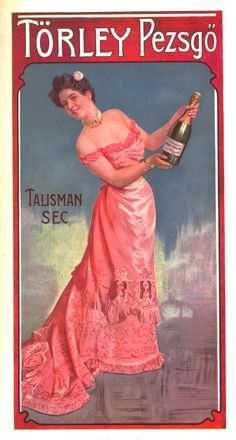 old hungarian ad, 1907 Retro Advertising, Retro Ads, Vintage Advertisements, Wine Poster, Poster Ads, Vintage Ads Food, In Vino Veritas, Old Ads, Graphic Design Posters