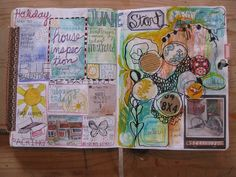 Jessie Starling: No More Excuses...  Journal / Mixed media blog