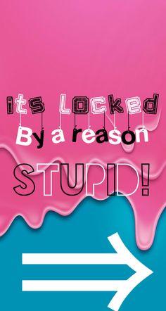 Its locked by A reason stupid