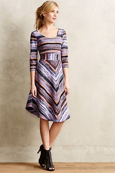Kebren Stripe Knit Dress - love the vintage Missoni vibe #anthrofave #commandress