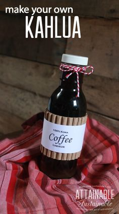 Homemade coffee liqueur (aka Kahlua) is super easy to make. Most recipes call for instant coffee; Homemade coffee liqueur (aka Kahlua) is super easy to make. Most recipes call for instant coffee;