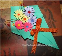 Paper crafts for kids Holiday Activities, Craft Activities For Kids, Preschool Crafts, Craft Ideas, Spring Projects, Spring Crafts, Mothers Day Cards, Happy Mothers Day, Paper Crafts For Kids