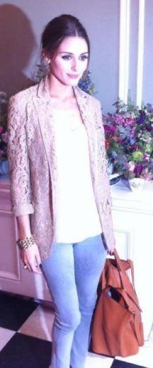 Olivia Palermo   Purse - Meli Melo Jacket - Moschino Cheap & Chic