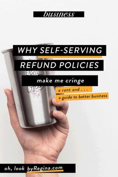It might be wise to think twice about your course refund policies because of the message you may be sending. #infopreneur