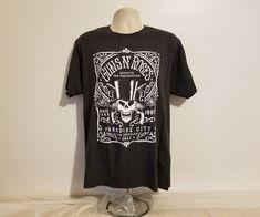 Guns N Roses Paradise City Los Angeles Adult Large Gray T-Shirt