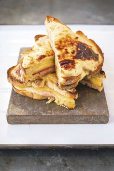 Croque monsieur sandwich with grilled cheese and ham. For the full recipe, click the picture or see www.redonline.co.uk