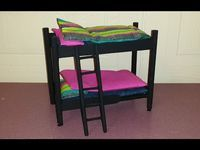 Diy How To Make A Cardboard Bed For Doll Made With Cardboard Colorful Paper Youtube Doll Bunk Beds Diy Doll Bunk Bed Diy Bunk Bed