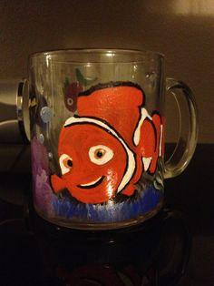 Hand-painted mug (Nemo) painted by Helen Krupenina