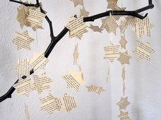 sterne aus buchseiten inkl. vorlage zum ausdrucken, Innenarchitektur ideen