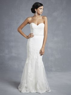 Exquisite Trumpet/Mermaid Sweetheart Sleeveless Beading Lace Chapel Train Lace Satin Tulle Wedding dresses