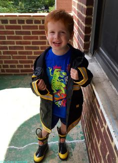 Let it rain! Western Chief Rain Jacket is perfect for my little guy.  Zappos Gets Kids Ready For Back-To-School #ZapposHaul (+ $25 Giveaway) @Zappos #backtoschool | The Mama Maven Blog